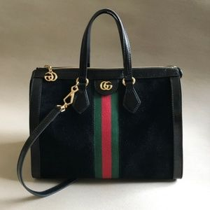 Gucci GG Ophidia Medium Tote Top Handle in Black